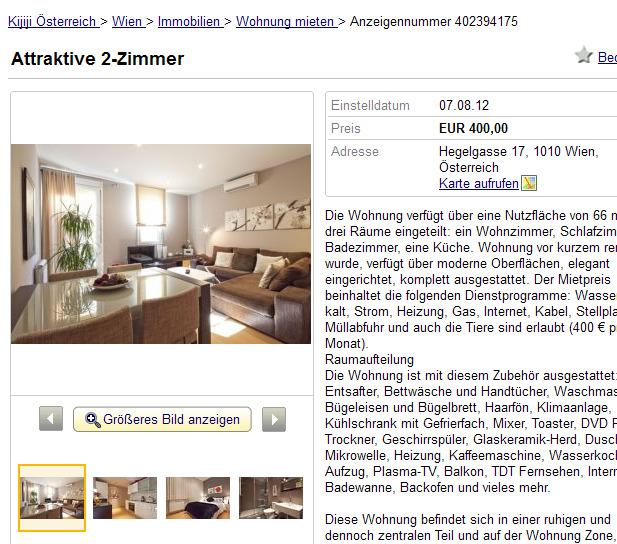 attraktive 2 zimmer hegelgasse 17 1010 wien sterreich. Black Bedroom Furniture Sets. Home Design Ideas
