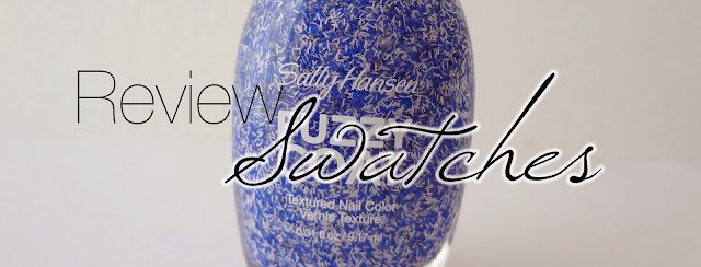 Review and swatches of the Sally Hansen fuzzy coat in Tight Knit by GlamorousGia.
