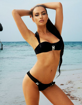 Irina Shayk sexy body for Beach Bunny sexy bikini model photoshoot