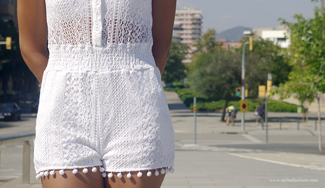 Celeblook white playsuit