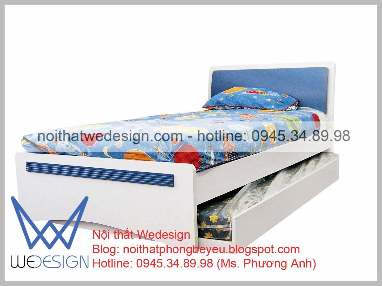 Giường trẻ em - Giường ngăn kéo, ngăn hộc thêm lưu trữ cho phòng trẻ