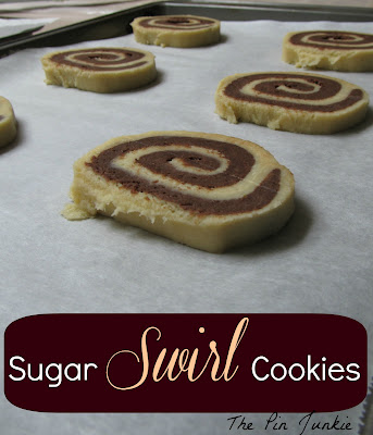 Christmas sugar swirl cookies