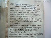 Tortitas ecológicas de arroz con chocolate con leche y coco BIOTREND de Lidl