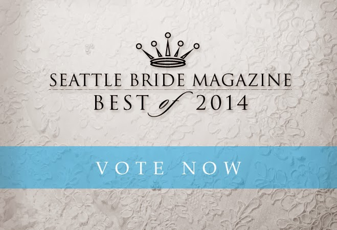 A Heavenly Ceremony places in the top 5 of the 2014 Seattle Bride Magazine Survey - Posted by Patricia Stimac and Kent Buttars, Seattle Wedding Officiants
