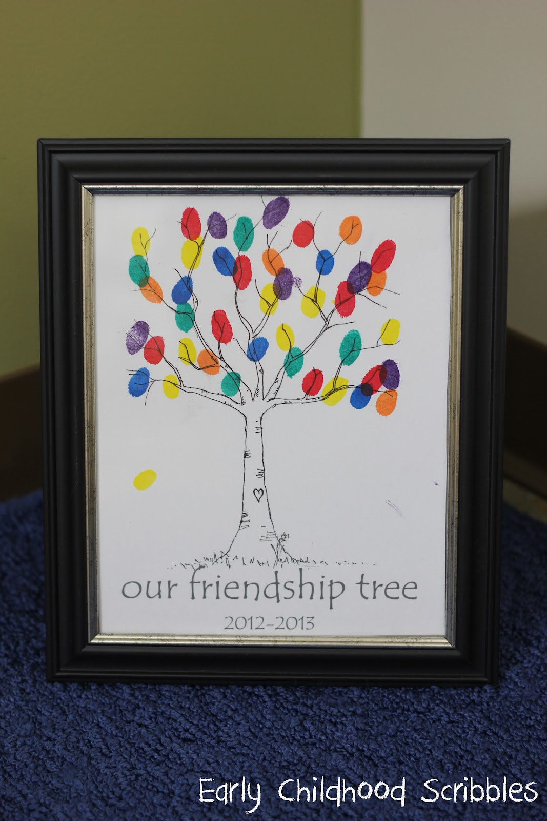 Early childhood scribbles social skills being a friend for Friendship tree template
