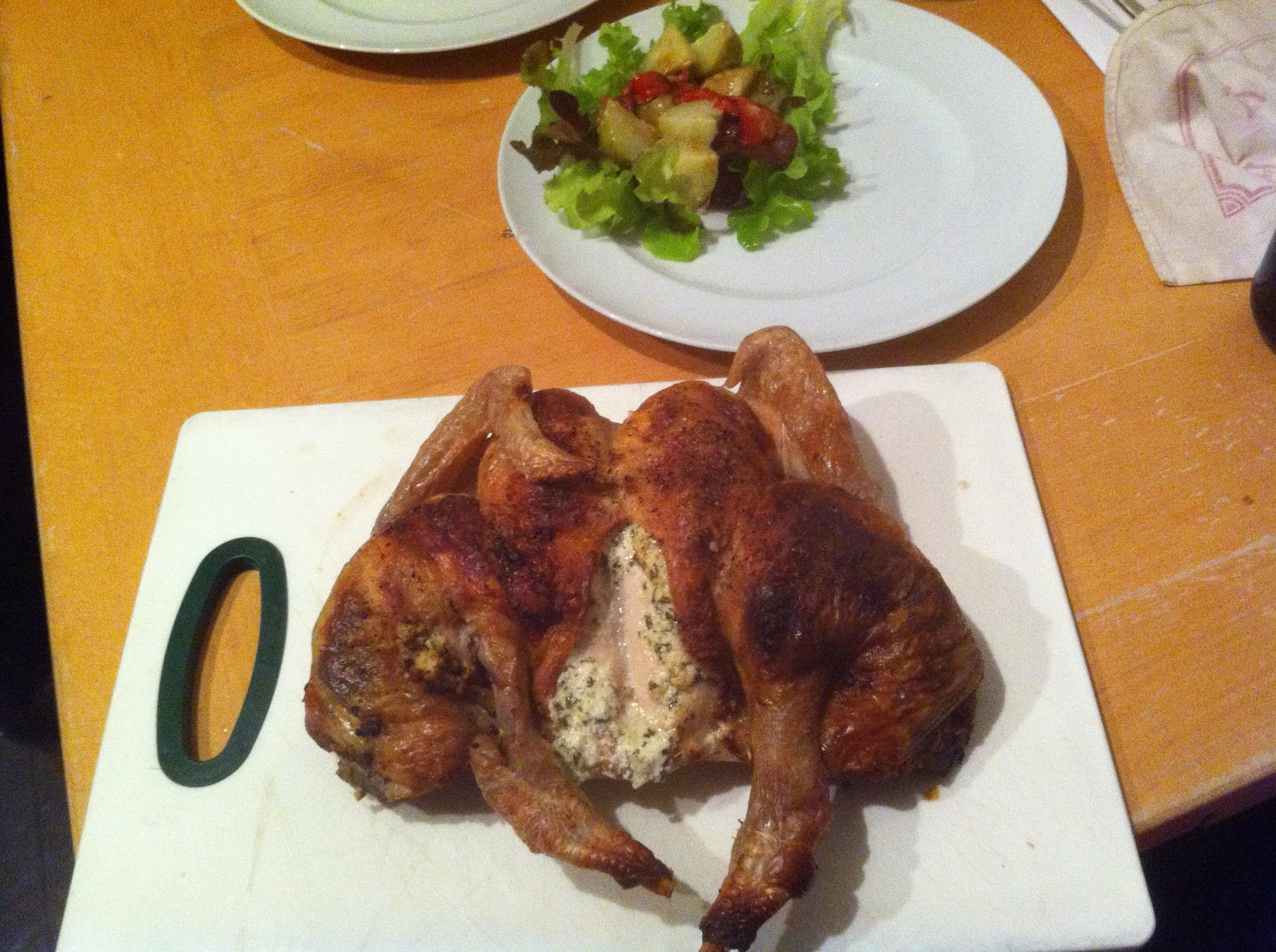 Roasted Chicken Stuffed With Herby Goat 39 S Cheese Recipe