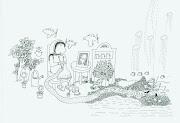 Las malvinas (madre tejiendo). dibujo: febrero de 2011 las malvinas