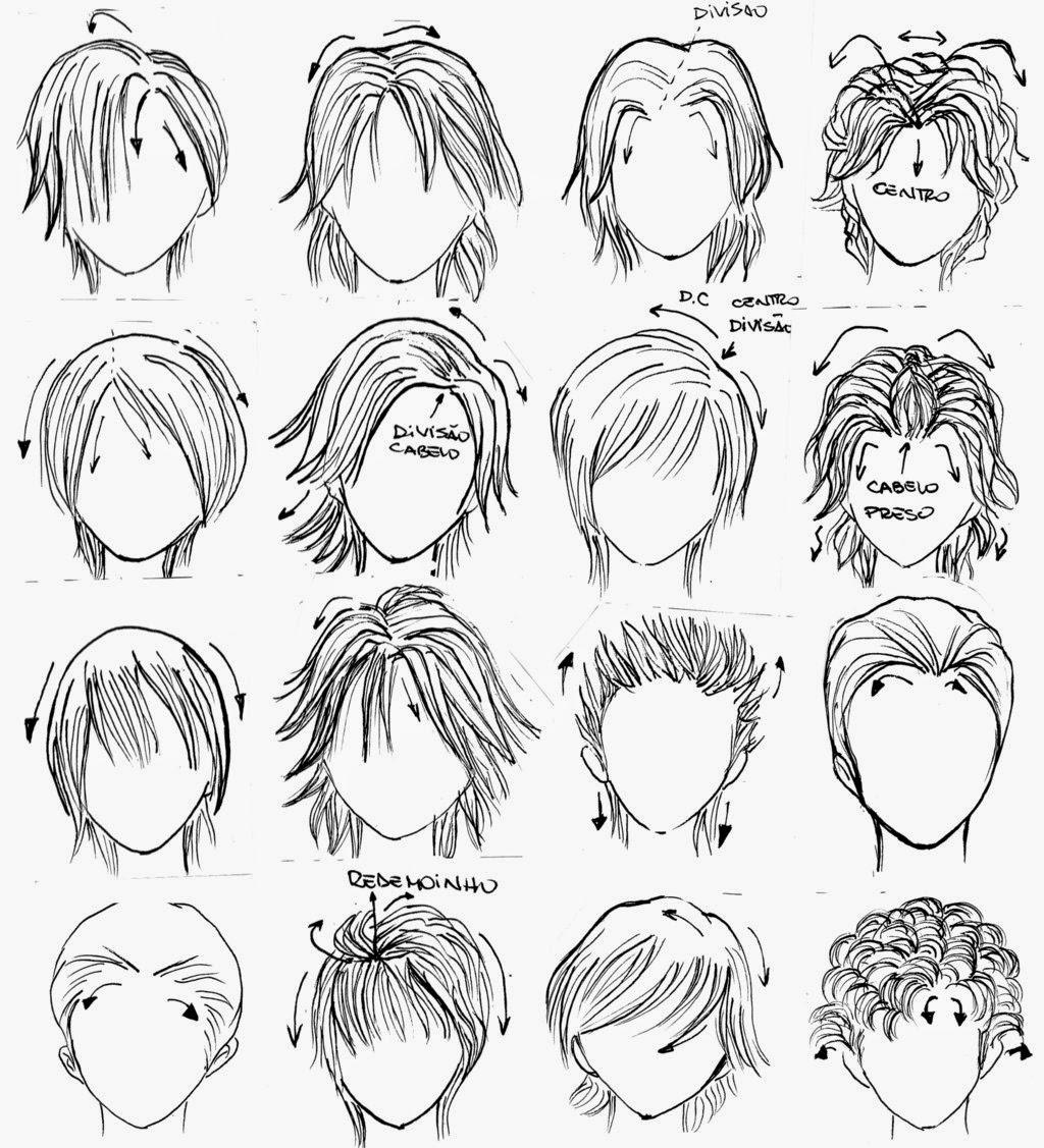 modelos de cabelos para colorir online