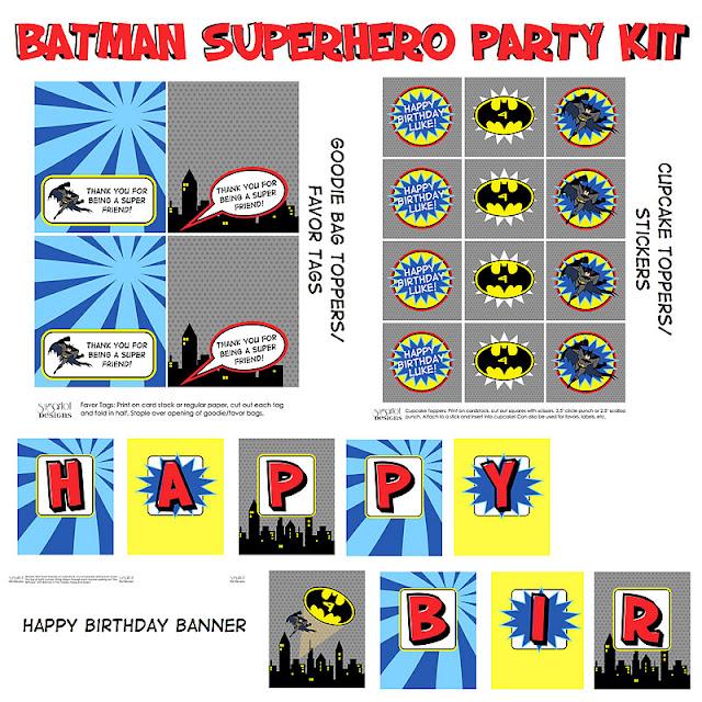 Sugartotdesigns: Batman Birthday Party Invitation And