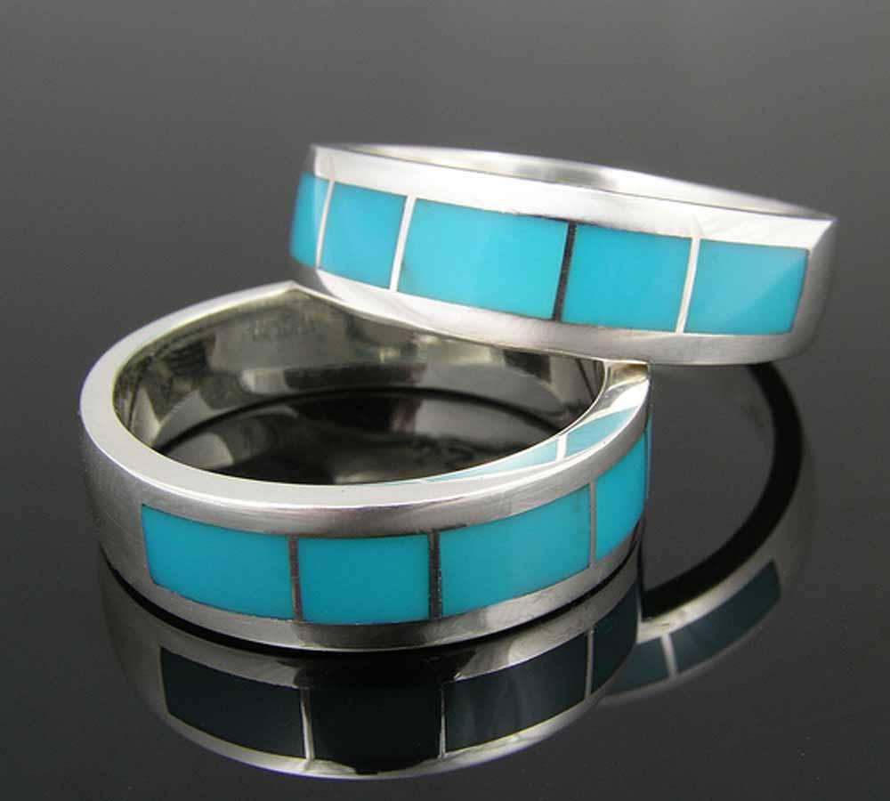 Turquoise Inlay Wedding Band 27 Spectacular wedding u Planning Married