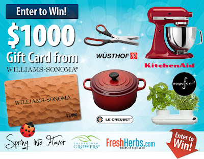 Fresh Herbs $1,000 Williams-Sonoma Giveaway