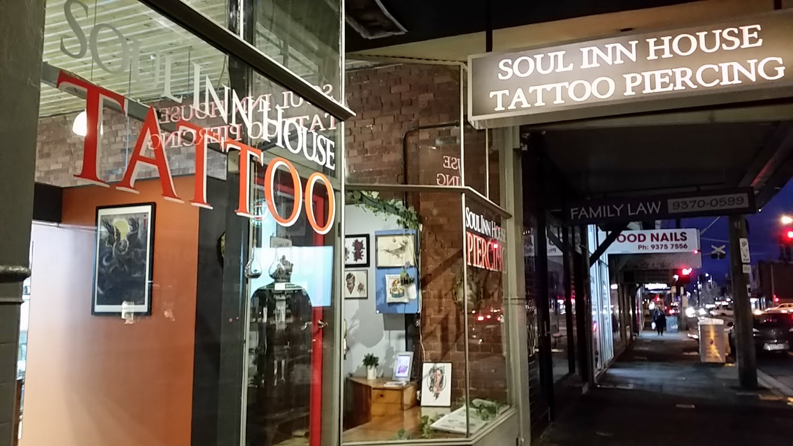 Soul Inn House Tattoo