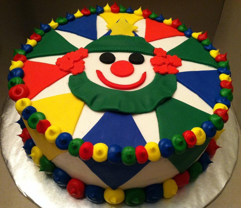 Sweet Treats by Susan Clown Birthday Cake