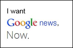 Notícias hiperlocais no Google Now