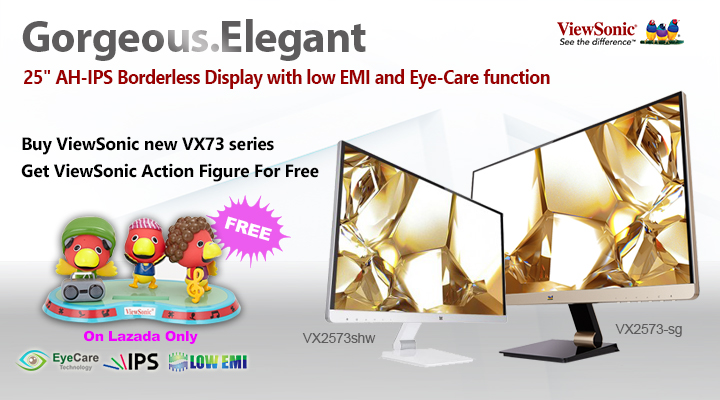 ViewSonic VX73 series 25-inch AH-IPS borderless display