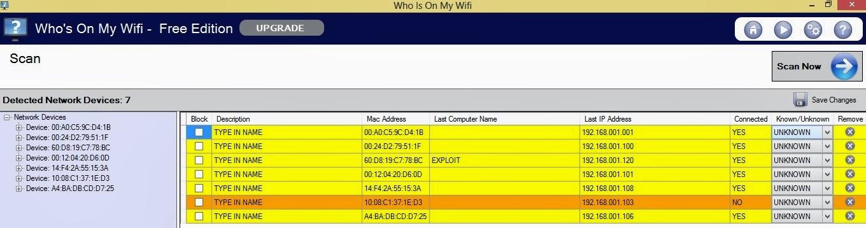 إعرف من يسرق منك إتصال الويفي عبر برنامج Who's On My Wifi