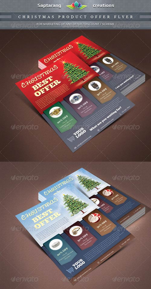 Christmas Product Offer Flyer PSD template