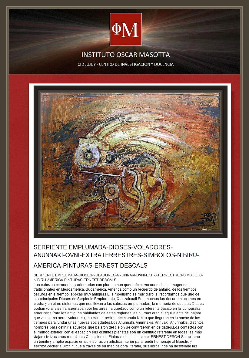 SERPIENTE EMPLUMADA-ANUNNAKI-DIOSES-EXTRATERRESTRES-ERNEST DESCALS