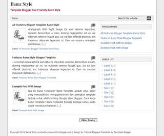 Bamz Style Blogger Template