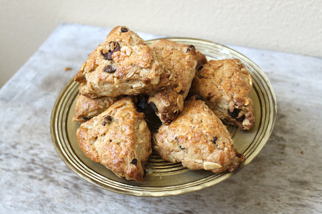 Tart Cherries and Toasted Almond Scones - The Little Epicurean