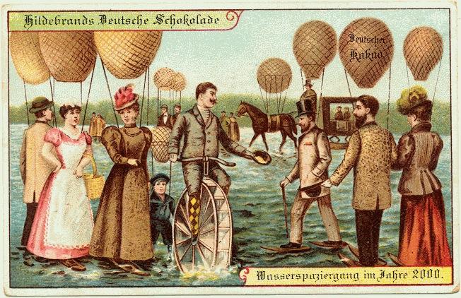 Poskad tahun 1900 gambarkan tahun 2000