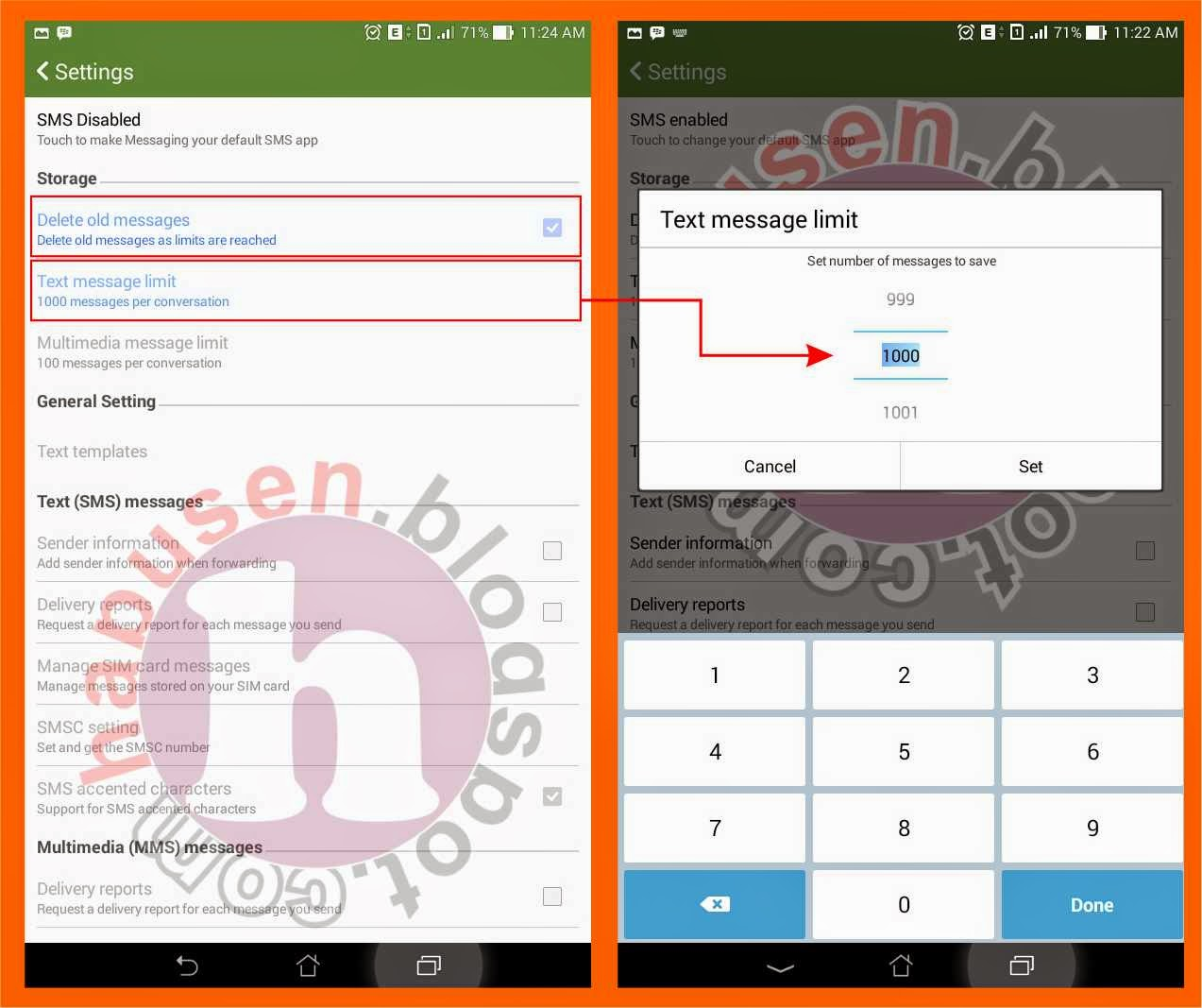 Otomatis menghapus SMS handphone android,menghapus sms otomatis,