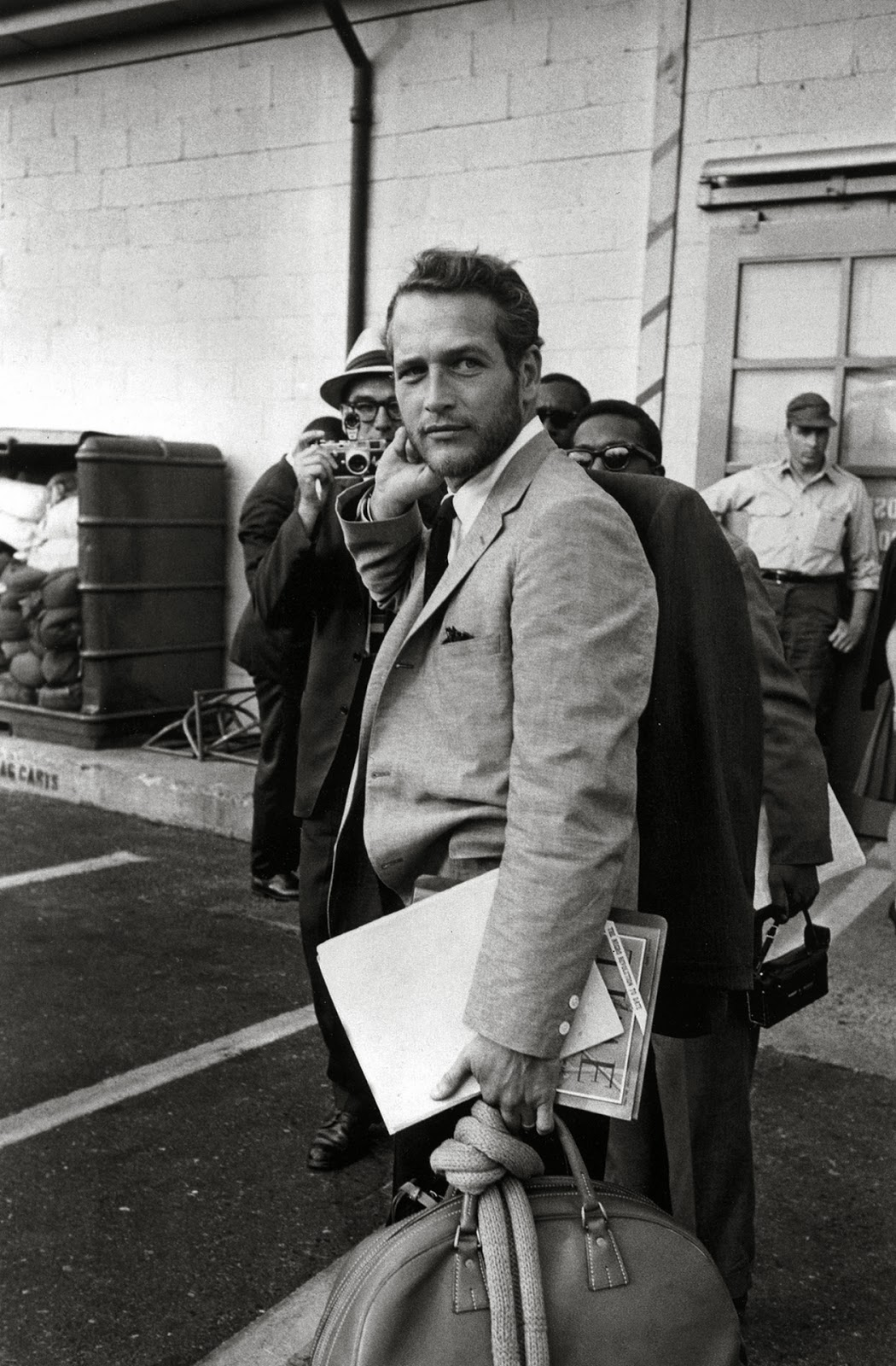 Paul Newman in a suit