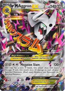 Mega Aggron EX Primal Clash Pokemon Card