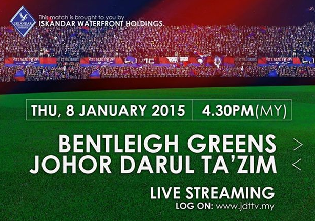 JDT Vs Bentleigh Greens Australia 8-1-2015