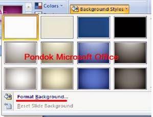pilihan warna bakcground style