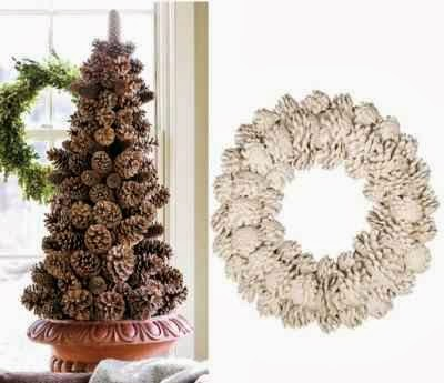 Lilacsndreams pinecone christmas tree decoration ornament for Pine cone christmas tree craft