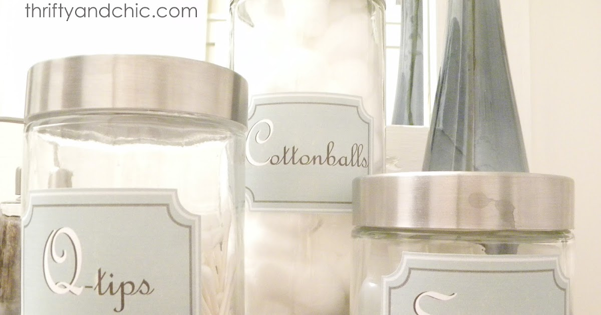 Bathroom Container Labels - Free Printable