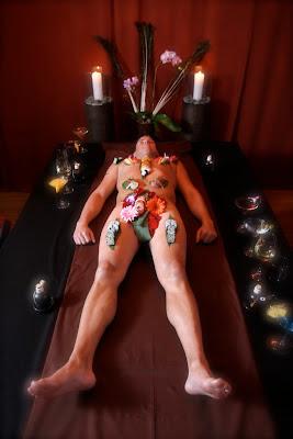 naked sushi male model