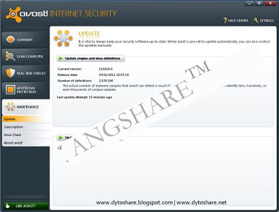 Software Antivirus AVAST Internet Security 6.0 + Crack Until 2050