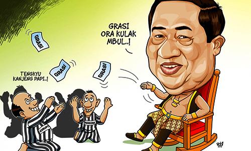 Foto SBY : Karikatur Grasi