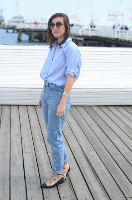 stylizacje, ootd, codzienne, l;ato ,jeans, denim, minimal, levis, shirt, blogger,