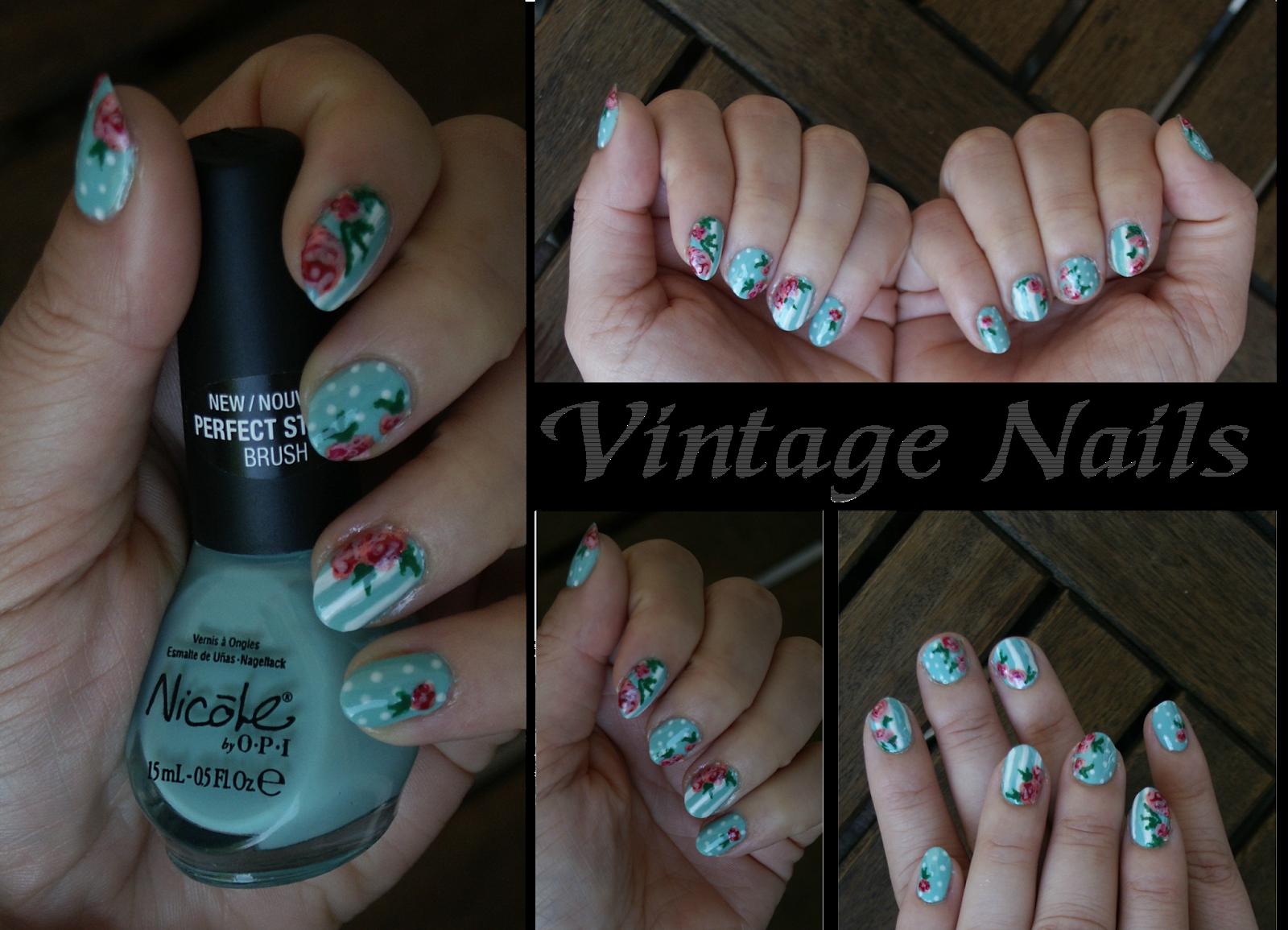 Mint Flower Nails