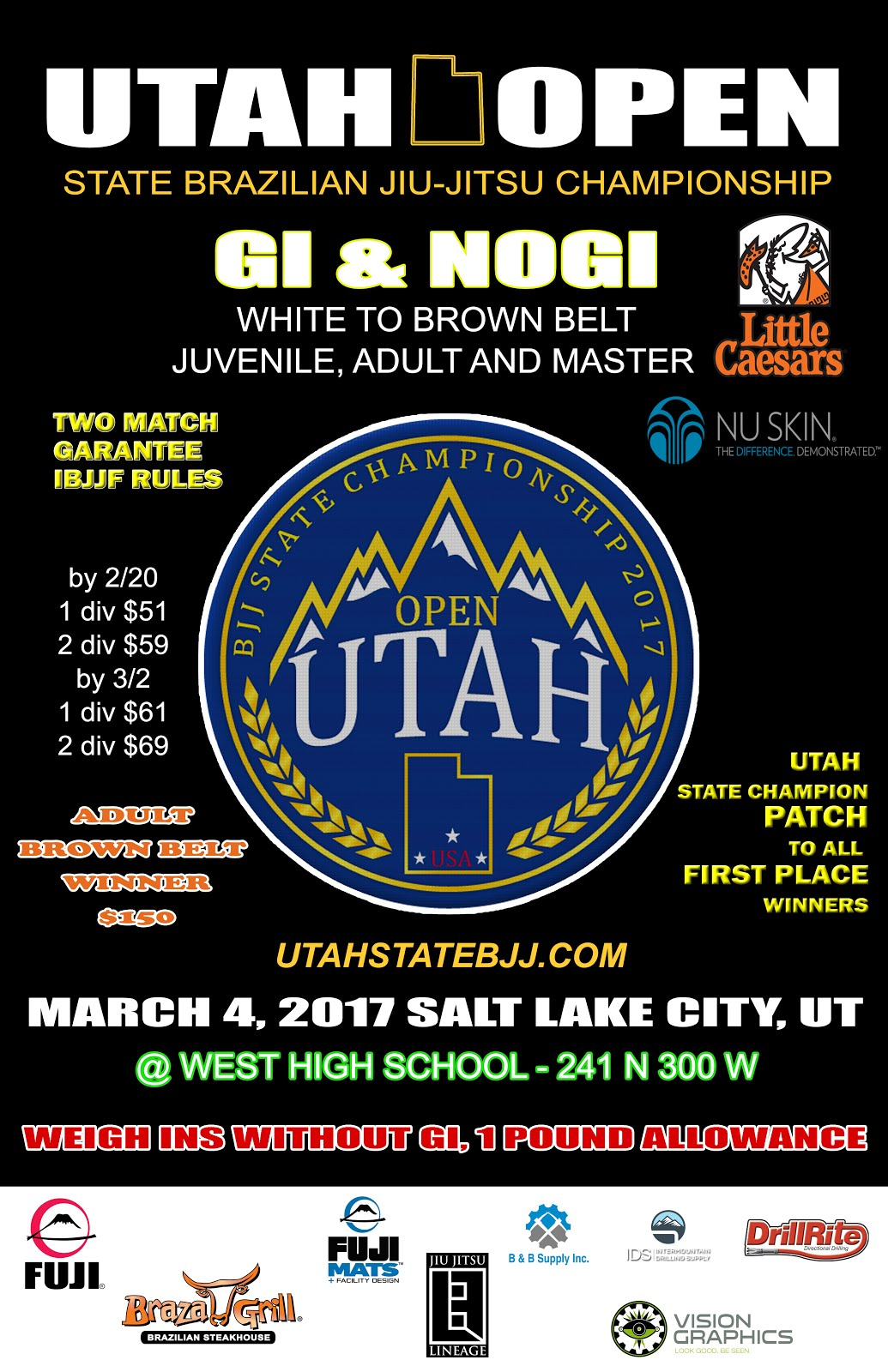 UTAH OPEN MARCH 4TH