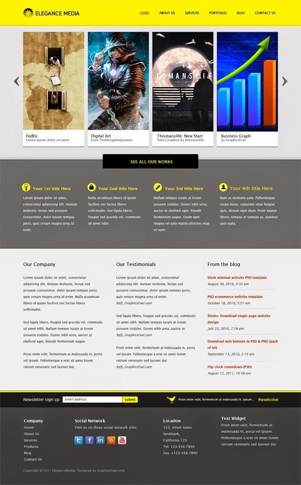 Business Website Template PSD
