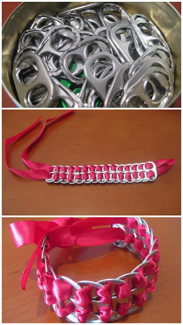 DIY pop tab bracelet -