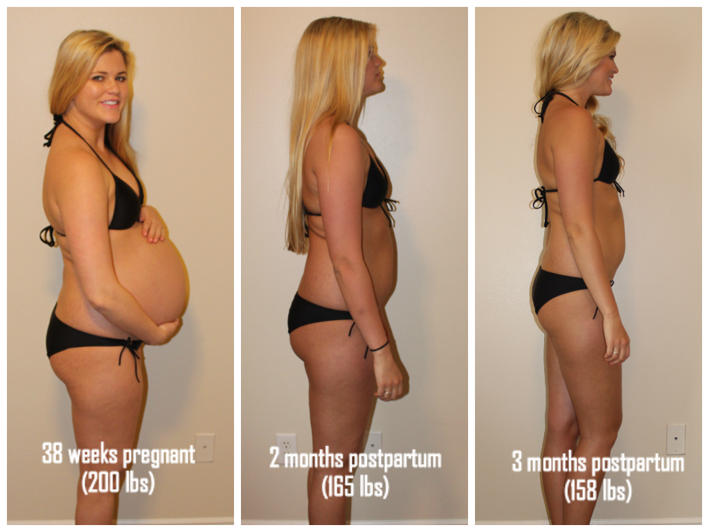 lose weight 3 months postpartum spotting