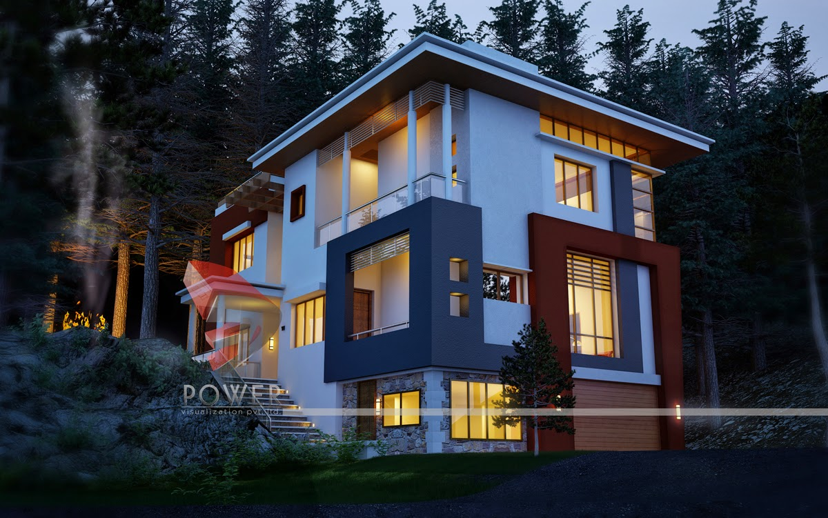 Modern houses interior and exterior - 3d Modeling And Rendering House Oslo Norway