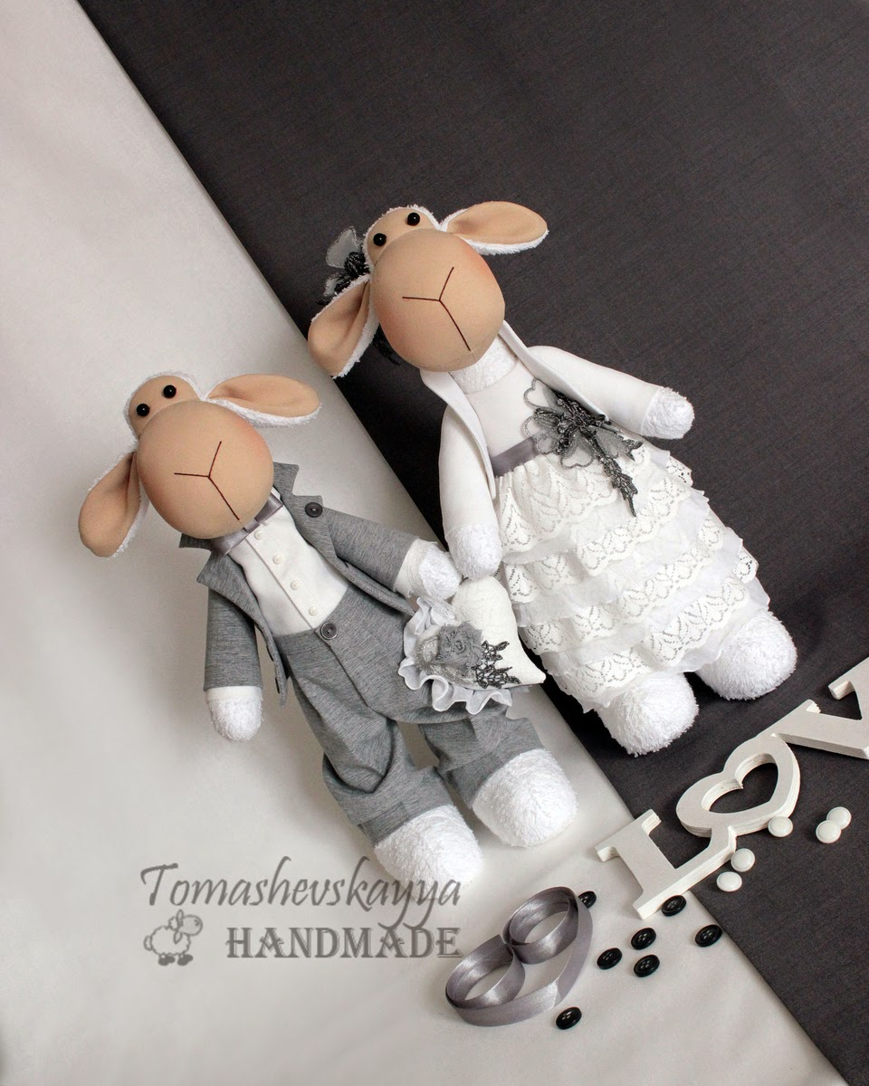 Свадебная пара. Тильда-овечки.