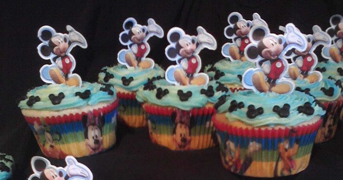 Cake Decorating Classes Near Pomona Ca : Big Bettie cakes: Mickey Mouse Cupcakes