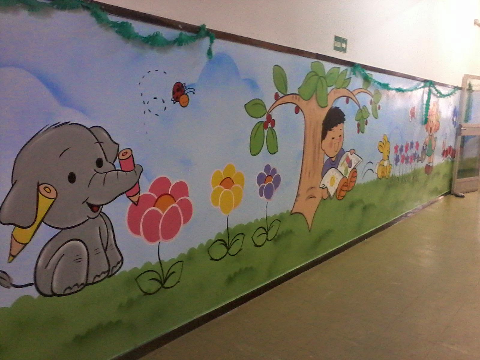 Will arte graffiti centro de educa o infantil - Pintura infantil pared ...