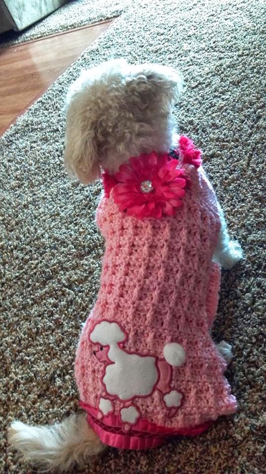 Crocheting Dog Sweater : The Crafting Secretary: A Blinged-Up Crochet Dog Sweater