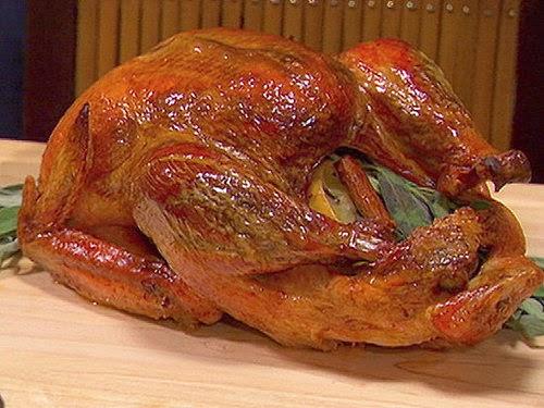 http://www.yumsugar.com/Bay-Leaf-Lemon-Brined-Roast-Turkey-Recipe-6265990