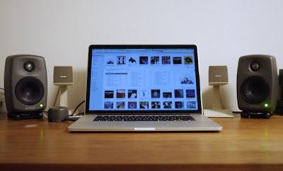 """Genelec 6010A, MacBook Pro 15"""" Retina"""