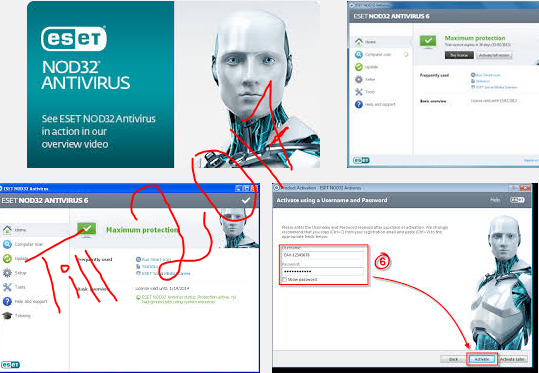 Eset nod32 antivirus username and password latest version Free download