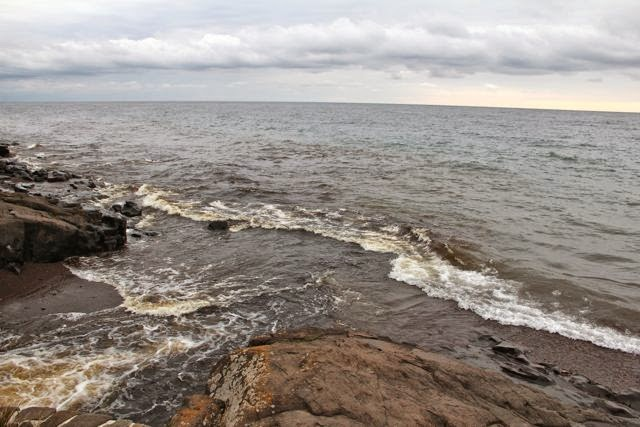 North Shore river flowing into Lake Superior